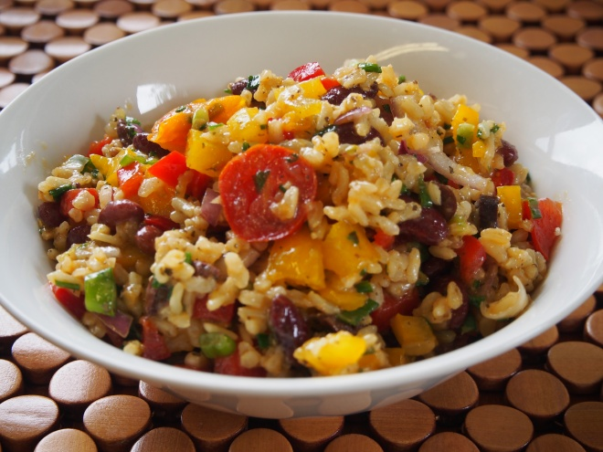 Rice and Kidney Bean Salad
