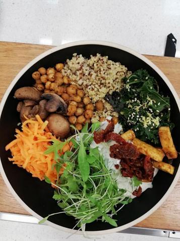 quinoa protein bowl